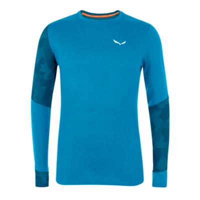 Moška termo majica Salewa Crystal toplo merino odziven cloisonne modra 28205-8660