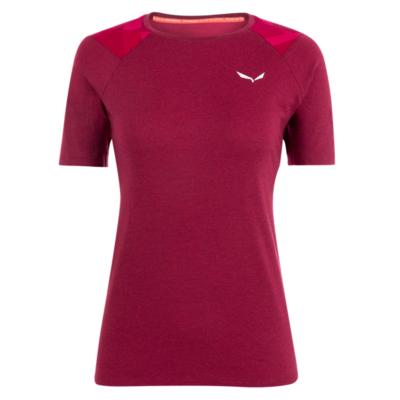 Ženska termo majica Salewa Kristalno topel merino odziven rhodo rdeča 28208-6360, Salewa