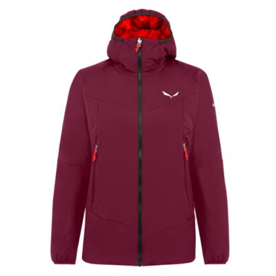 Zimska ženska jakna Salewa Ortles Tirolska Odziven stretch s kapuco rhodo rdeča 28248-6360