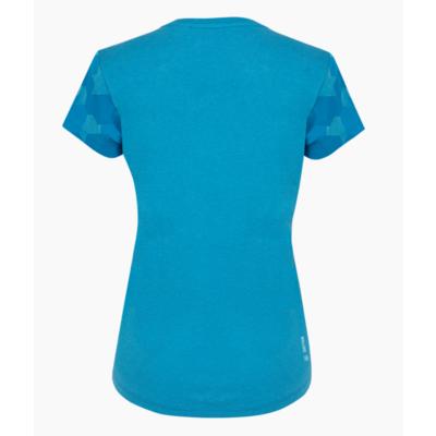 Ženska majica Salewa Camou Rokav Posuši modra Dunaj melange 28260-8989, Salewa