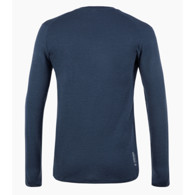 Moška majica Salewa Čisto logo merino odziven dolga Rokav Tee mornarski blazer 28262-3960, Salewa