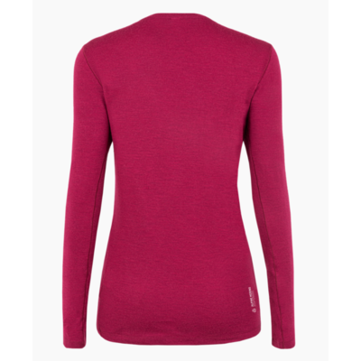 Ženska majica Salewa Čisto logo merino odziven dolga Rokav Tee rhodo rdeča 28263-6360, Salewa