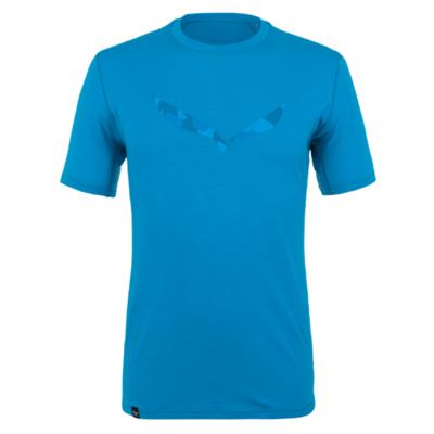 Moška majica Salewa Čisto logo merino odziven cloisonne modra 28264-8660
