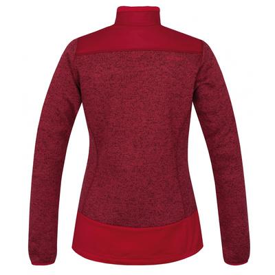 Ženske zip flis pulover Husky Alan L tm. škrlatna, Husky