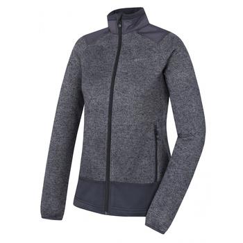 Žensko runo pulover z zadrgo Husky Alan L temno siva, Husky