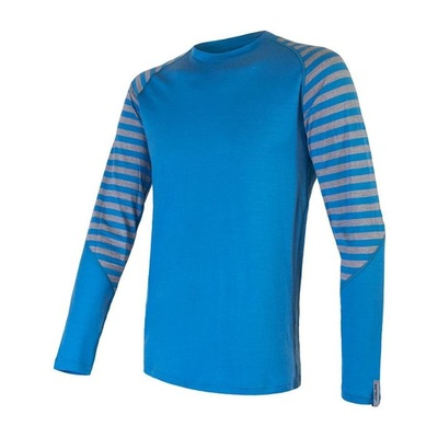 moški majica Sensor Merino Aktivno modro / siva 20200003, Sensor