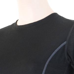 ženske majica Sensor Merino volna Aktivno črna 11109024, Sensor