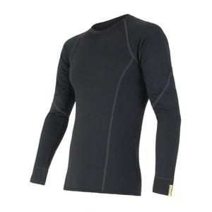 moški majica Sensor Merino volna Aktivno črna 11109033, Sensor