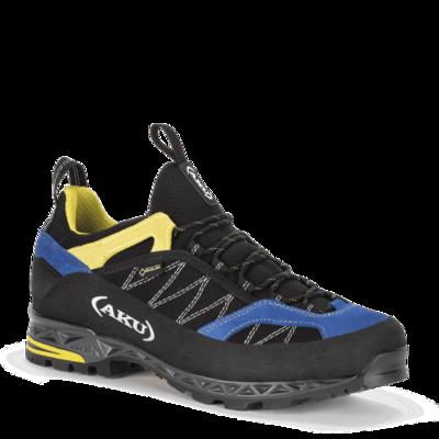 moški čevlji AKU Tengu nizka GTX črna / modra / rumena, AKU