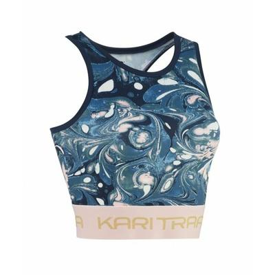 Ženska športna majica Kari Traa Beatrice 622393 modra, Kari Traa