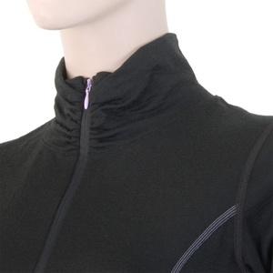 ženske majica Sensor Merino volna Aktivno črna 11109018, Sensor