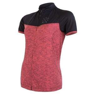 ženski majica Sensor ciklo Predlog kr.rukáv celozip roza / črna 20100059, Sensor
