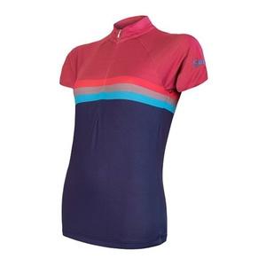 ženski kolesarjenje majica Sensor POLETJE STRIPE modra / vijolična 20100062, Sensor