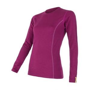 ženske majica Sensor Merino Aktivno lila 12110027, Sensor