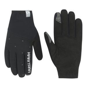 ženske rokavice Kari Traa Eva Black / Dark siva, Kari Traa