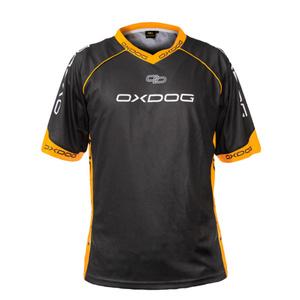 majica OXDOG RACE SHIRT črna / oranžna, Oxdog
