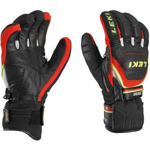 rokavice LEKI Svetovni pokal v smučanju Race trener Flex S GTX črno-rdeče-belo-rumena 634-80123, Leki