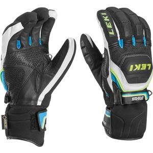 rokavice LEKI Svetovni pokal v smučanju Race trener Flex S GTX črno-belo-cian-rumena 634-80133, Leki
