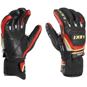 rokavice LEKI Svetovni pokal v smučanju Race Flex S hitrost sistem črno-rdeče-belo-rumena 634-80143, Leki