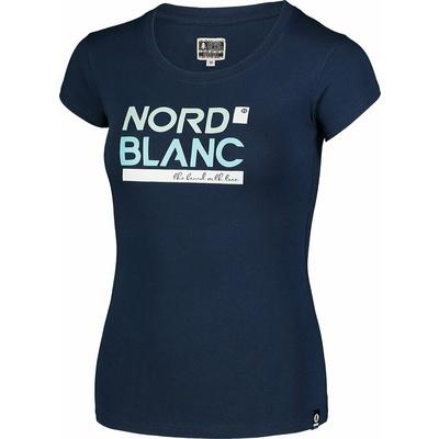 Ženska bombažna majica NORDBLANC Ynud modra NBSLT7387_MOB, Nordblanc