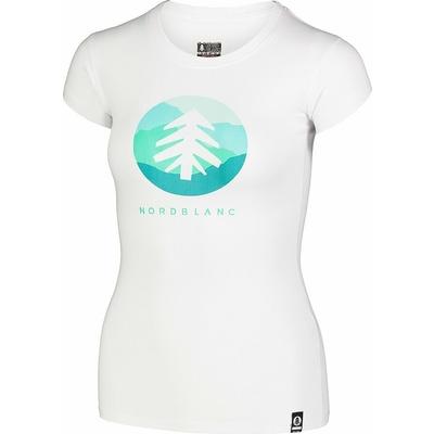 Ženska bombažna majica NORDBLANC Suntre belo NBSLT7388_BLA, Nordblanc