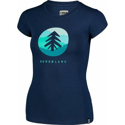 Ženska bombažna majica NORDBLANC Suntre modra NBSLT7388_MOB, Nordblanc