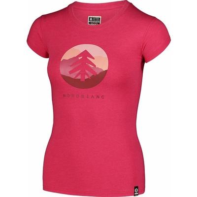 Ženska bombažna majica NORDBLANC Suntre roza NBSLT7388_RZO, Nordblanc