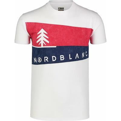 Moška majica Nordblanc Grafični bela NBSMT7394_BLA, Nordblanc