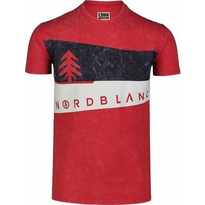 Moška majica Nordblanc Grafično črna NBSMT7394_TCV, Nordblanc