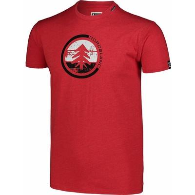 Moška bombažna majica Nordblanc TRICOLOR rdeča NBSMT7397_TCV, Nordblanc