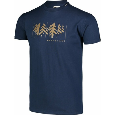 Moška bombažna majica Nordblanc DECONSTRUCTED modra NBSMT7398_MOB, Nordblanc