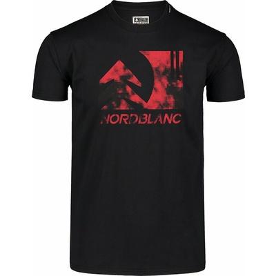 Moška bombažna majica Nordblanc TREETOP Črna NBSMT7399_CRN, Nordblanc