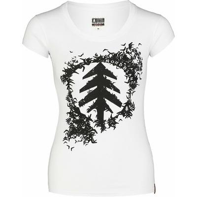 Ženska bombažna majica NORDBLANC Flock belo NBSLT7401_BLA, Nordblanc