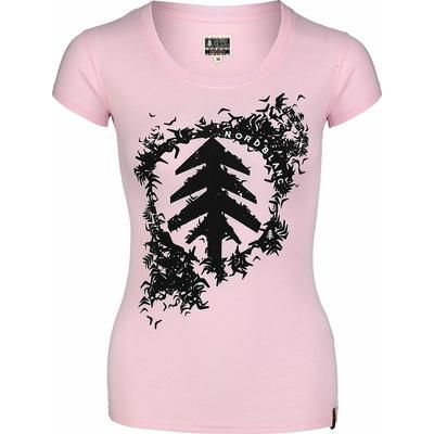 Ženska bombažna majica NORDBLANC Flock roza NBSLT7401_RUT, Nordblanc