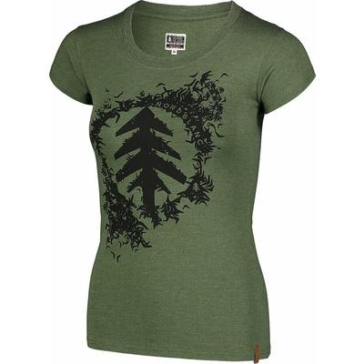 Ženska bombažna majica NORDBLANC Flock zelena NBSLT7401_ZSA, Nordblanc