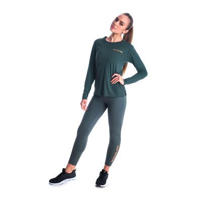 Ženske fitnes majica Nordblanc Spopad zelena NBSLF7448_TZE, Nordblanc