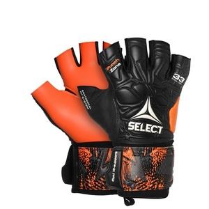 Vratar rokavice Select GK rokavice futsal liga 33 Negativno cut črna oranžna, Select