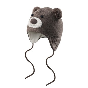 Malčki klobuk Devold Bear Baby kapa Brown GO 605 910 A 730A, Devold