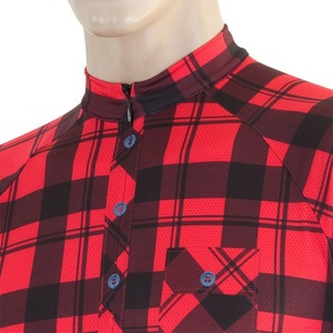 moški kolesarjenje majica Sensor CYKLO SQUARE rdeča 16100022, Sensor