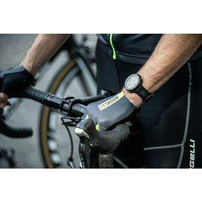 kolesarjenje rokavice Rogelli PACE, sivoodsevni rumena 006.382, Rogelli