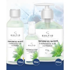 SAnitarna gel na roke Gultio z Aloe, kamilice in s srebrom 50 ml, Gultio