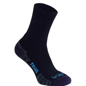 nogavice Bridgedale pohod lahka Merino Uspešnost boot ženske black/purple/016