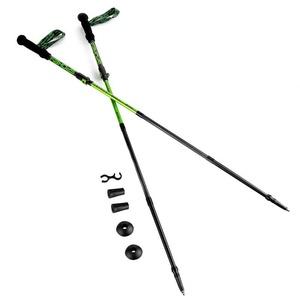 treking palice 4-dílné Spokey SKY RUN ALU sivo-zelena