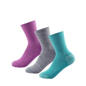 Otroci nogavice Devold dnevni srednje Kid sock 3Pk dekle mix SC 593 023 A 370A, Devold