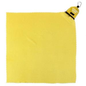 Hitro sušenje brisača Spokey NEMO 40x40 cm rumena z karabinouu, Spokey