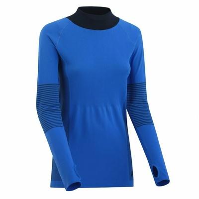Ženska športna majica z dolgimi rokavi Kari Traa Takfie 622041, modra, Kari Traa