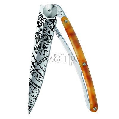 Žepni nož Deejo 1AC101 Tatto 37g lupina želve Polinezija, Deejo