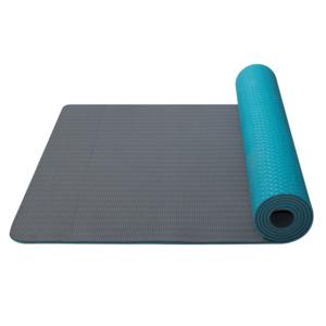 pranje na joga Joga Mat double layer material TPE turkizna / siva, Yate