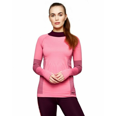 Ženska športna majica z dolgimi rokavi Kari Traa Takfia 622041, roza, Kari Traa