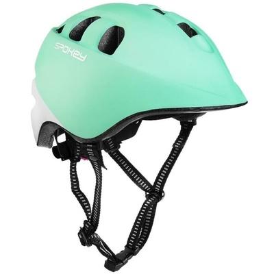 Otroška kolesarska čelada Spokey CHERUB IN-MOLD, 48-52 cm, turkizna in bela, Spokey